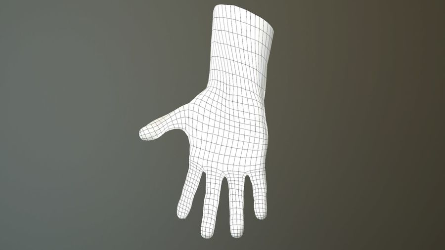 Hand Rigged (male) royalty-free 3d model - Preview no. 38