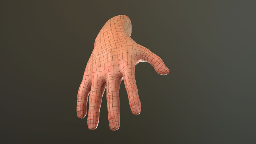 Male Hand PBR Rigged royalty-free 3d model - Preview no. 32