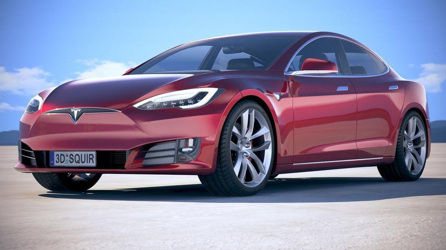 Tesla Model S P100D 2018 royalty-free 3d model - Preview no. 13