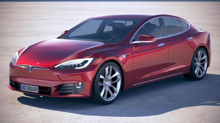 Tesla Model S P100D 2018 royalty-free 3d model - Preview no. 1