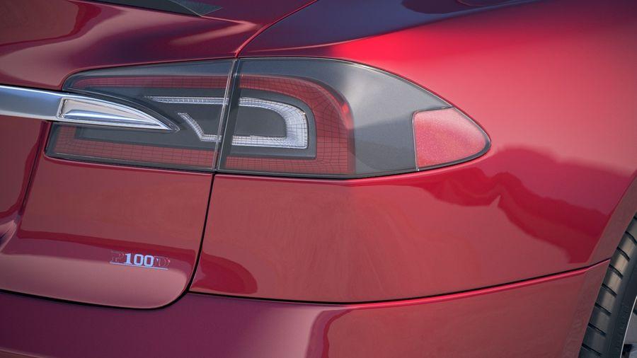 Tesla Model S P100D 2018 royalty-free 3d model - Preview no. 17