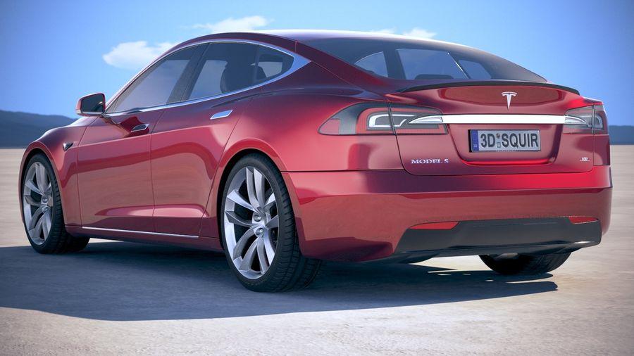 Tesla Model S P100D 2018 royalty-free 3d model - Preview no. 14