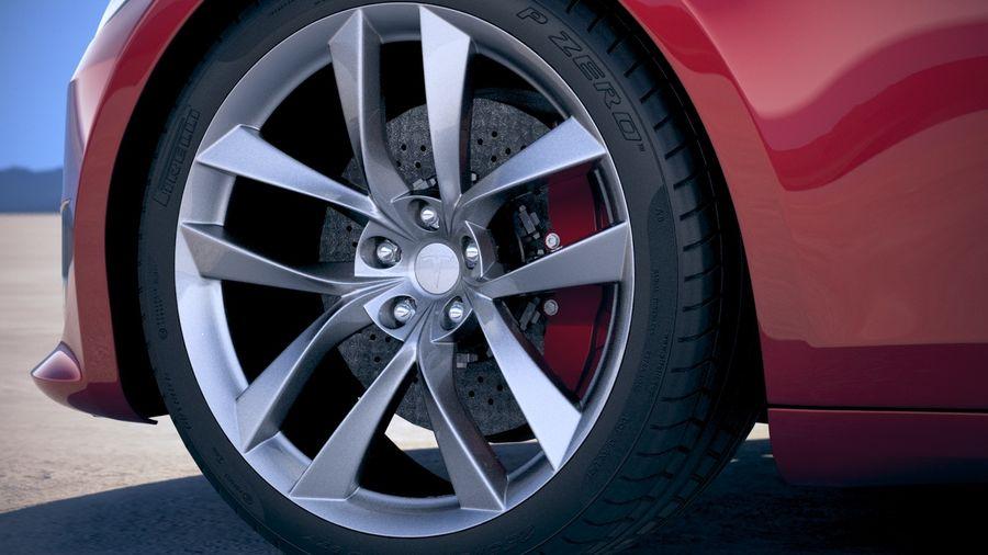 Tesla Model S P100D 2018 royalty-free 3d model - Preview no. 15