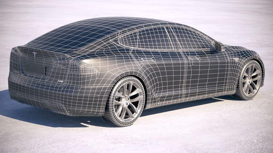 Tesla Model S P100D 2018 royalty-free 3d model - Preview no. 21