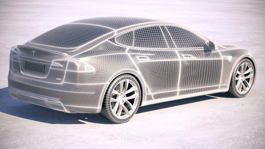 Tesla Model S P100D 2018 royalty-free 3d model - Preview no. 19