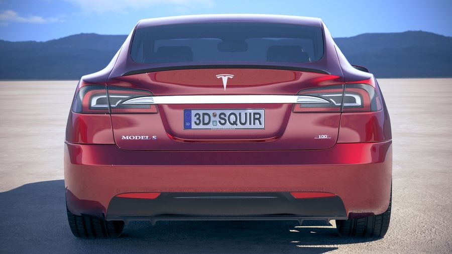 Tesla Model S P100D 2018 royalty-free 3d model - Preview no. 11