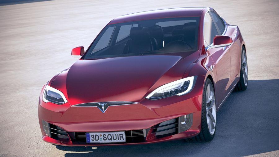 Tesla Model S P100D 2018 royalty-free 3d model - Preview no. 2