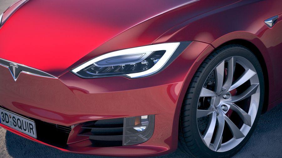 Tesla Model S P100D 2018 royalty-free 3d model - Preview no. 3