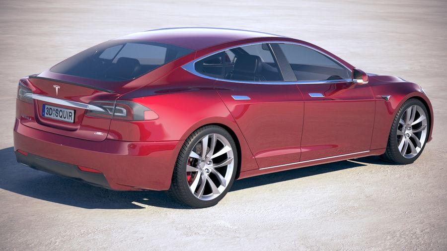 Tesla Model S P100D 2018 royalty-free 3d model - Preview no. 5