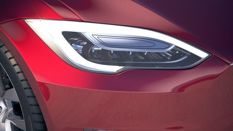 Tesla Model S P100D 2018 royalty-free 3d model - Preview no. 16