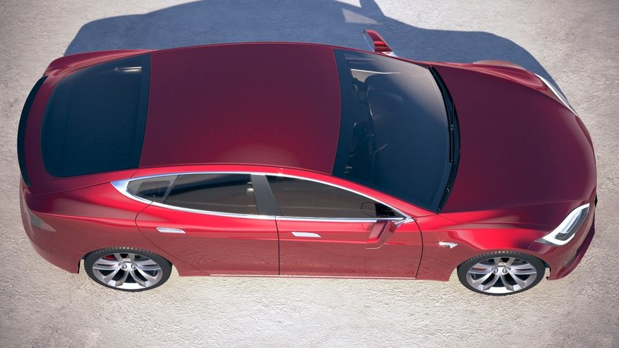 Tesla Model S P100D 2018 royalty-free 3d model - Preview no. 8