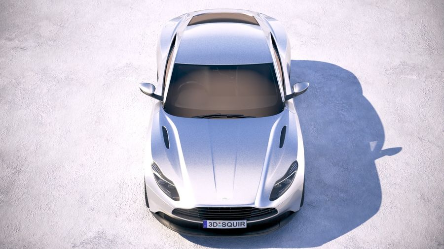 阿斯顿马丁DB11 V8 2018 royalty-free 3d model - Preview no. 9