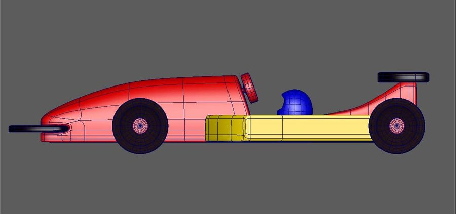 Toy Car  formula 1 royalty-free 3d model - Preview no. 3
