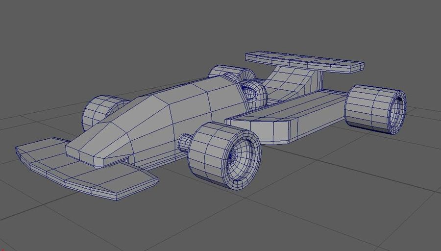 Toy Car  formula 1 royalty-free 3d model - Preview no. 12