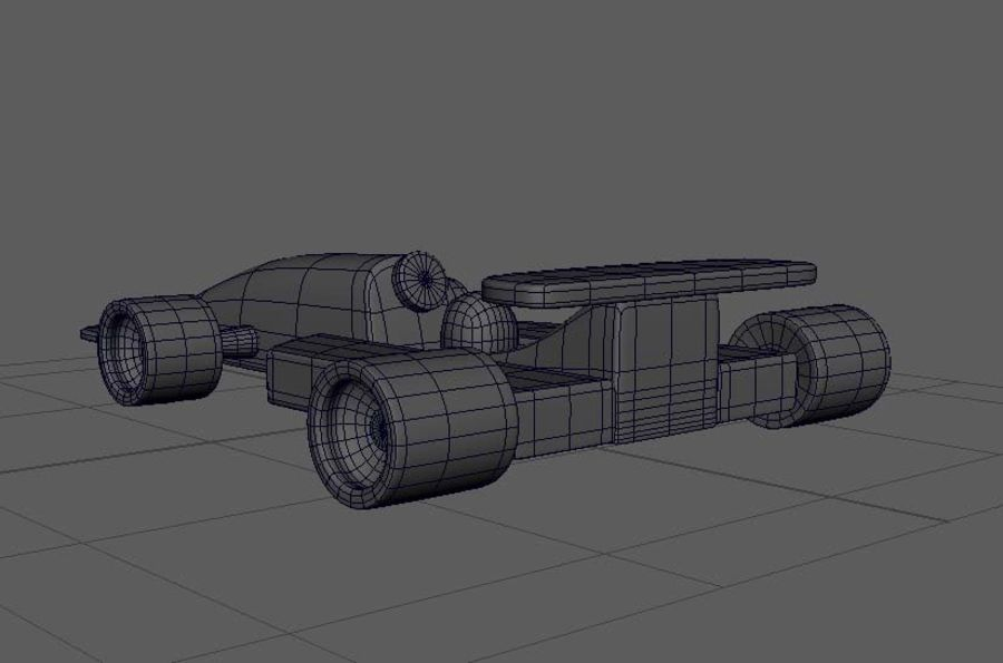 Toy Car  formula 1 royalty-free 3d model - Preview no. 7