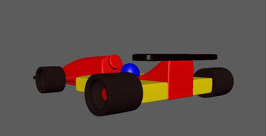 Toy Car  formula 1 royalty-free 3d model - Preview no. 2