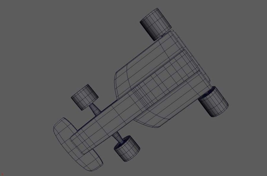Toy Car  formula 1 royalty-free 3d model - Preview no. 6