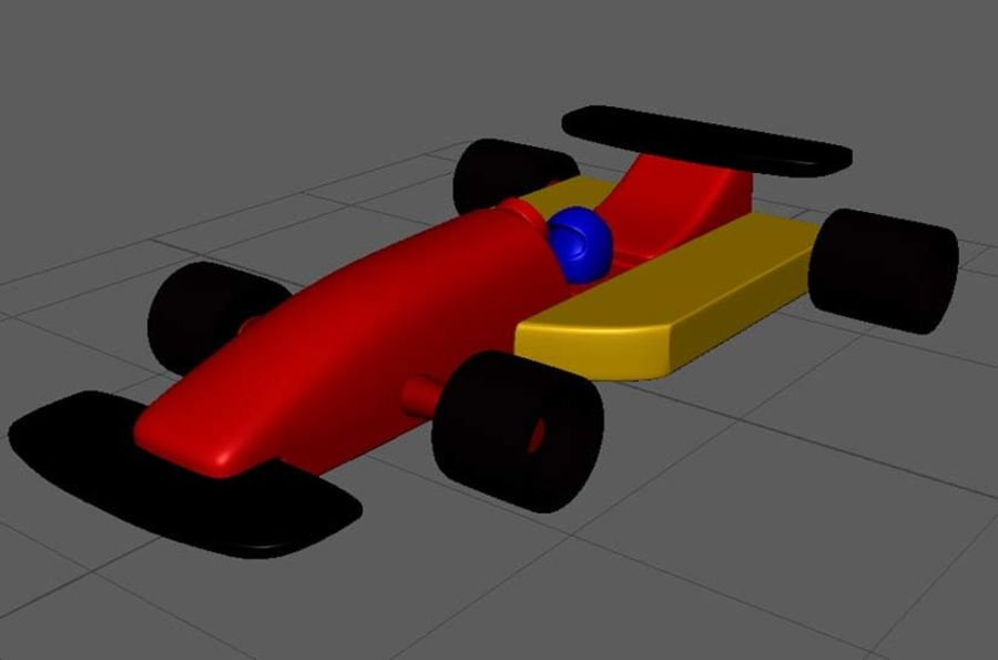 Toy Car  formula 1 royalty-free 3d model - Preview no. 1