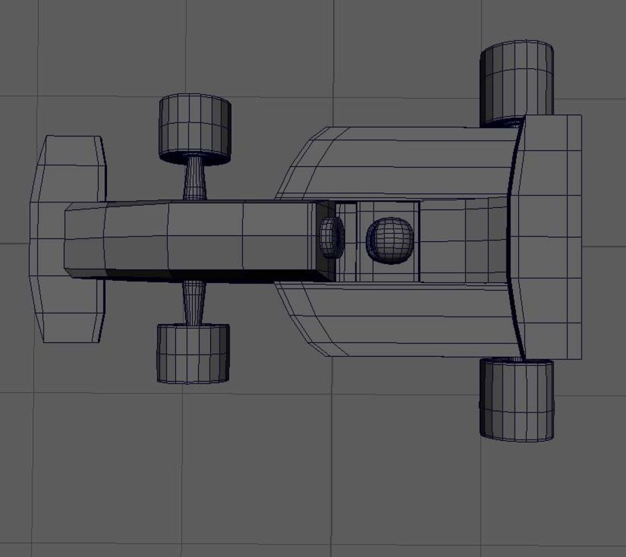 Toy Car  formula 1 royalty-free 3d model - Preview no. 9