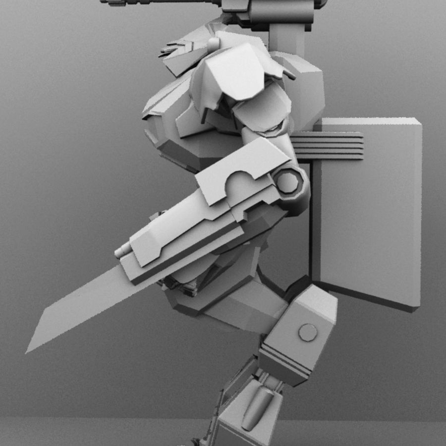 Armored Transport Mech royalty-free 3d model - Preview no. 4