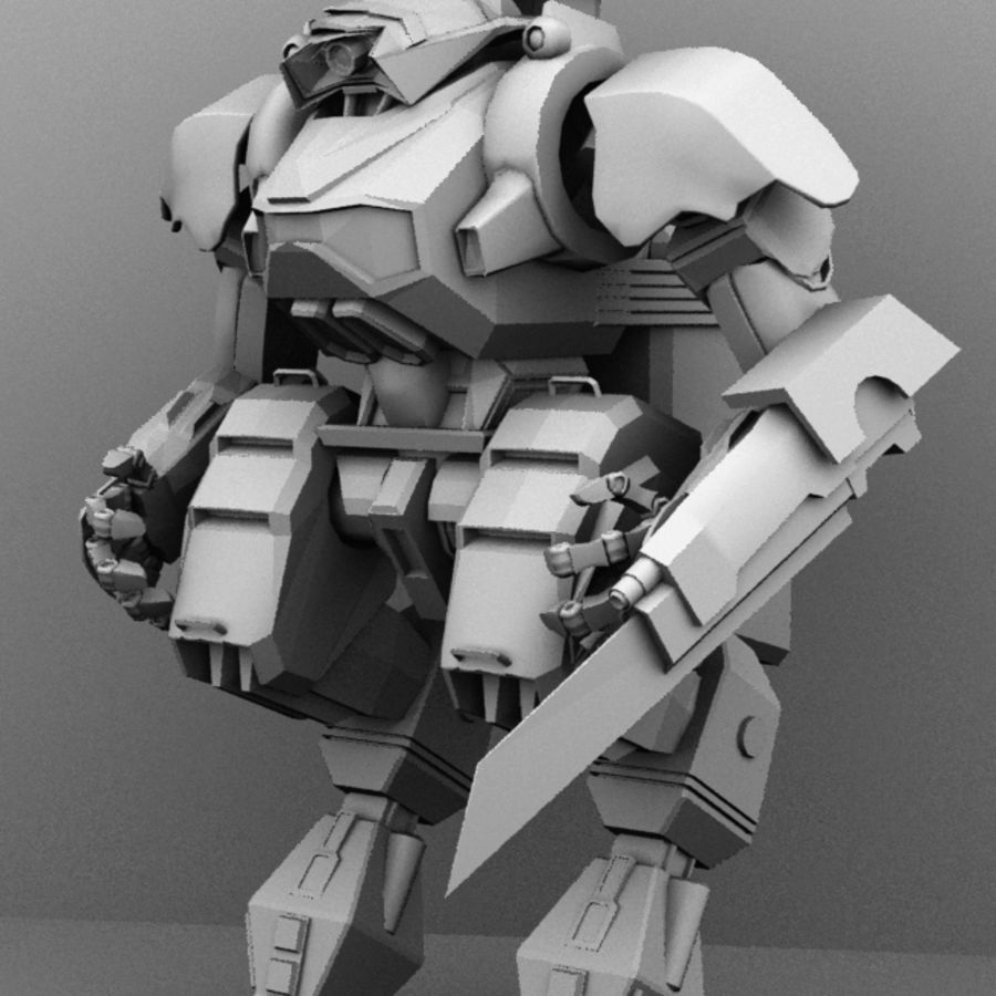 Armored Transport Mech royalty-free 3d model - Preview no. 2