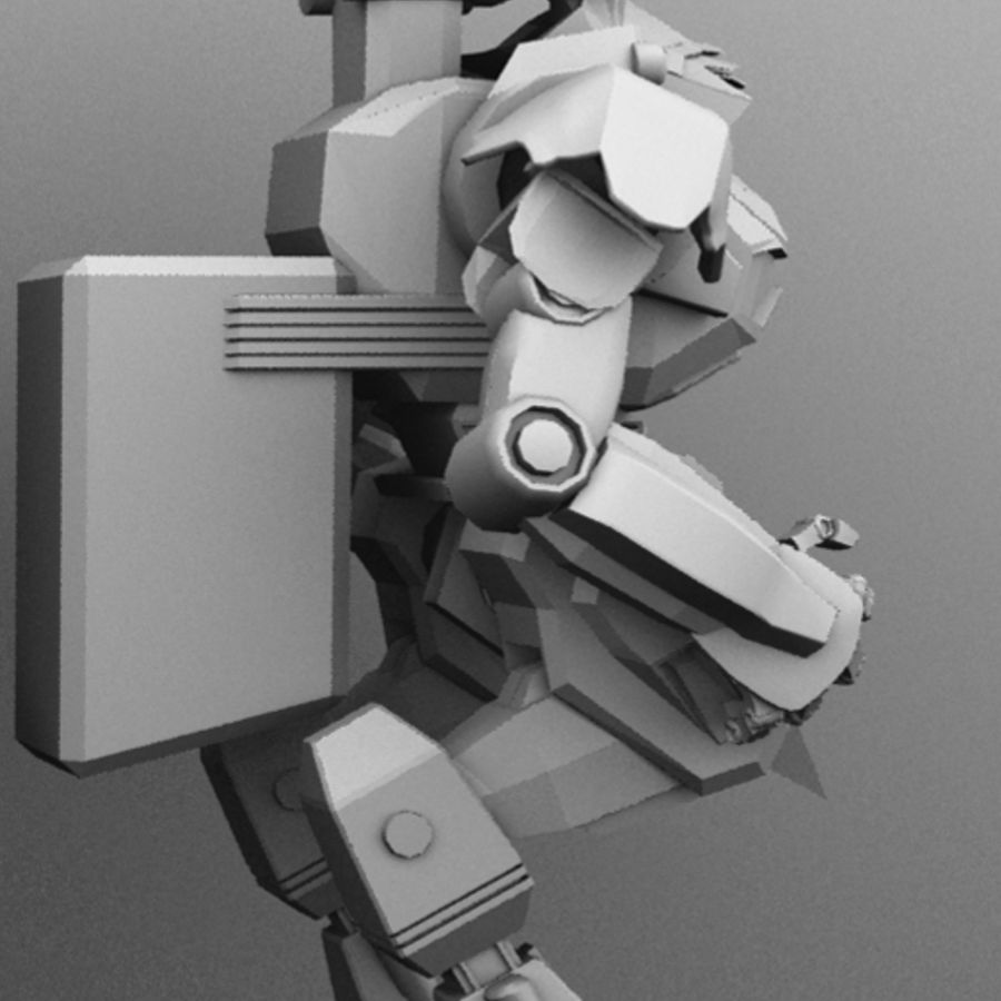 Armored Transport Mech royalty-free 3d model - Preview no. 5