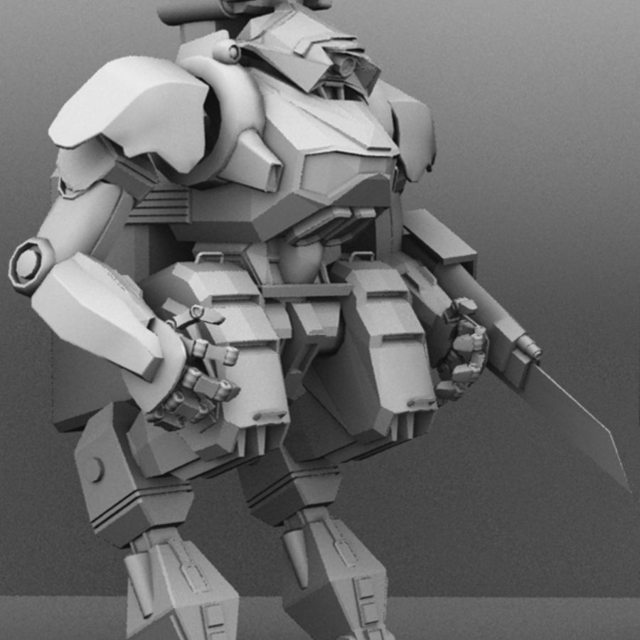 Armored Transport Mech royalty-free 3d model - Preview no. 3