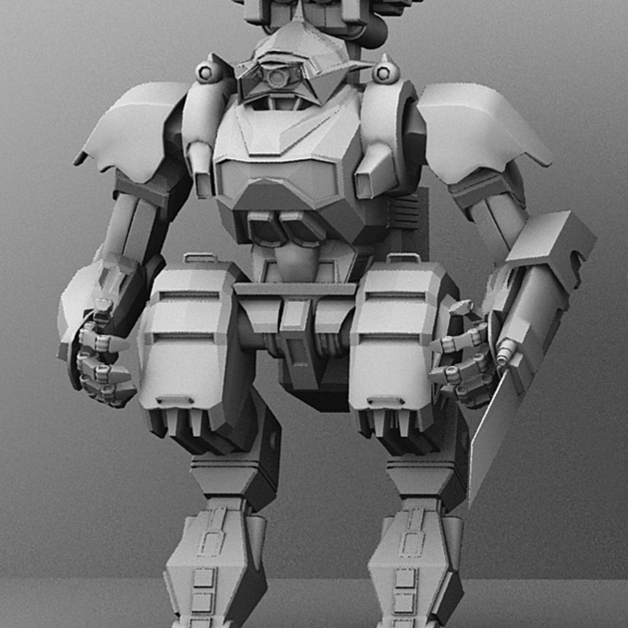 Armored Transport Mech royalty-free 3d model - Preview no. 1