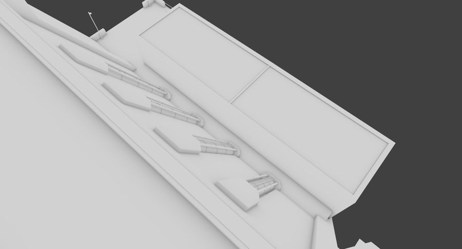 Hydroelectric Dam 1 Bare Bones Version royalty-free 3d model - Preview no. 10