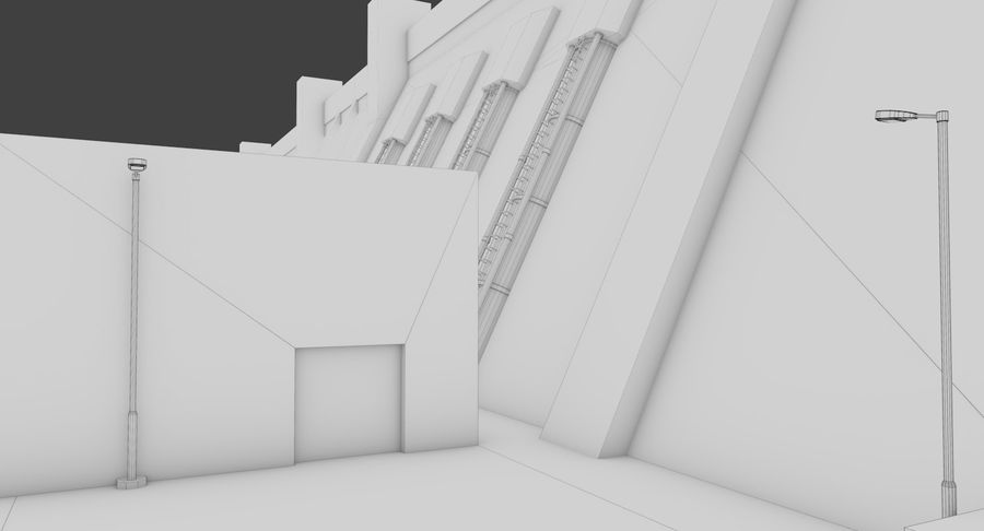 Hydroelectric Dam 1 Bare Bones Version royalty-free 3d model - Preview no. 17