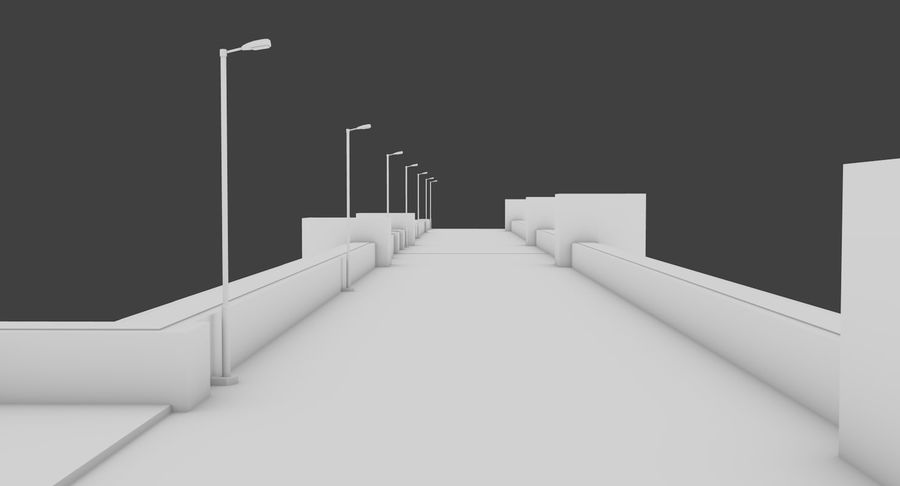 Hydroelectric Dam 1 Bare Bones Version royalty-free 3d model - Preview no. 7