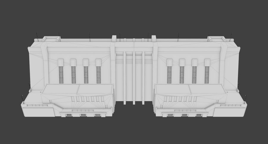 Hydroelectric Dam 1 Bare Bones Version royalty-free 3d model - Preview no. 18