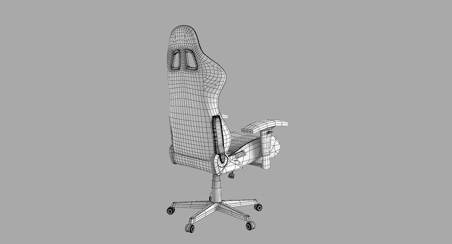DxRacer Gaming Chair royalty-free 3d model - Preview no. 8