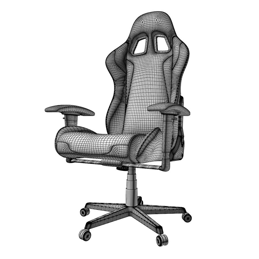 DxRacer Gaming Chair royalty-free 3d model - Preview no. 9