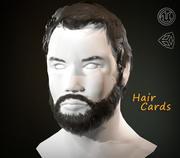 Tarjetas de pelo y barba Hombre PBR modelo 3d