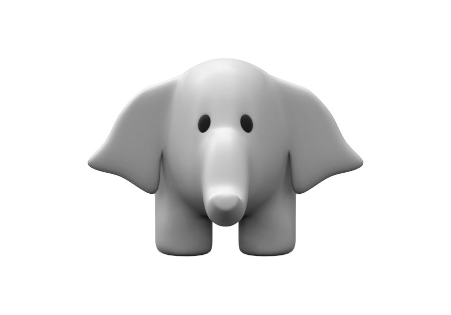 Fylld elefant royalty-free 3d model - Preview no. 2