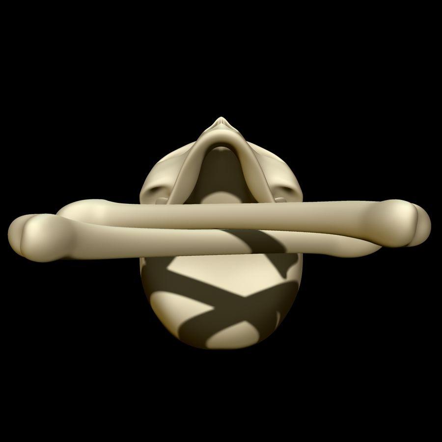 Skull cross bones royalty-free 3d model - Preview no. 9