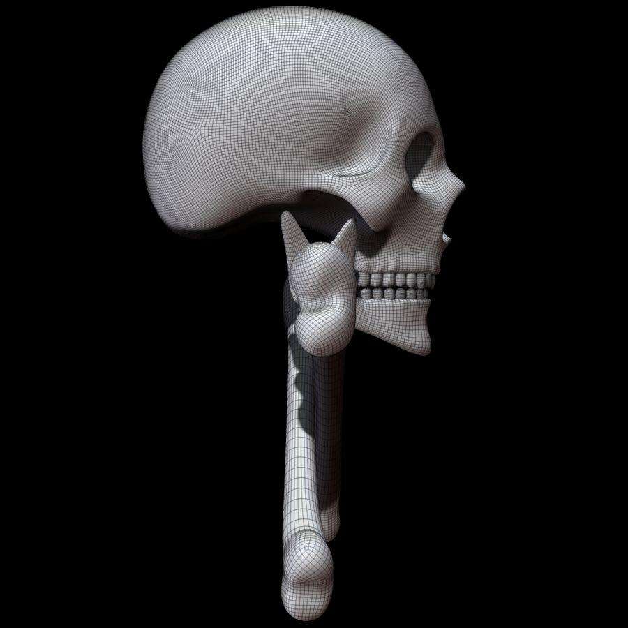 Skull cross bones royalty-free 3d model - Preview no. 13