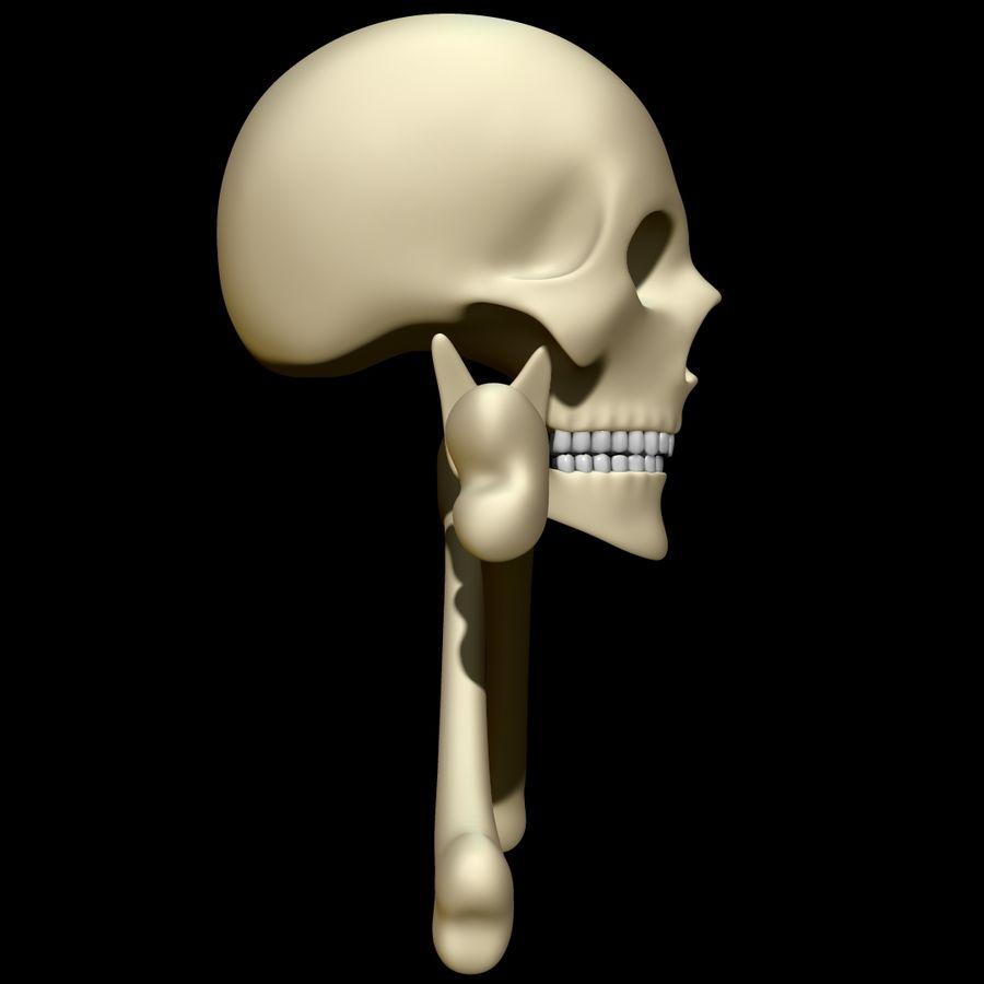 Skull cross bones royalty-free 3d model - Preview no. 3