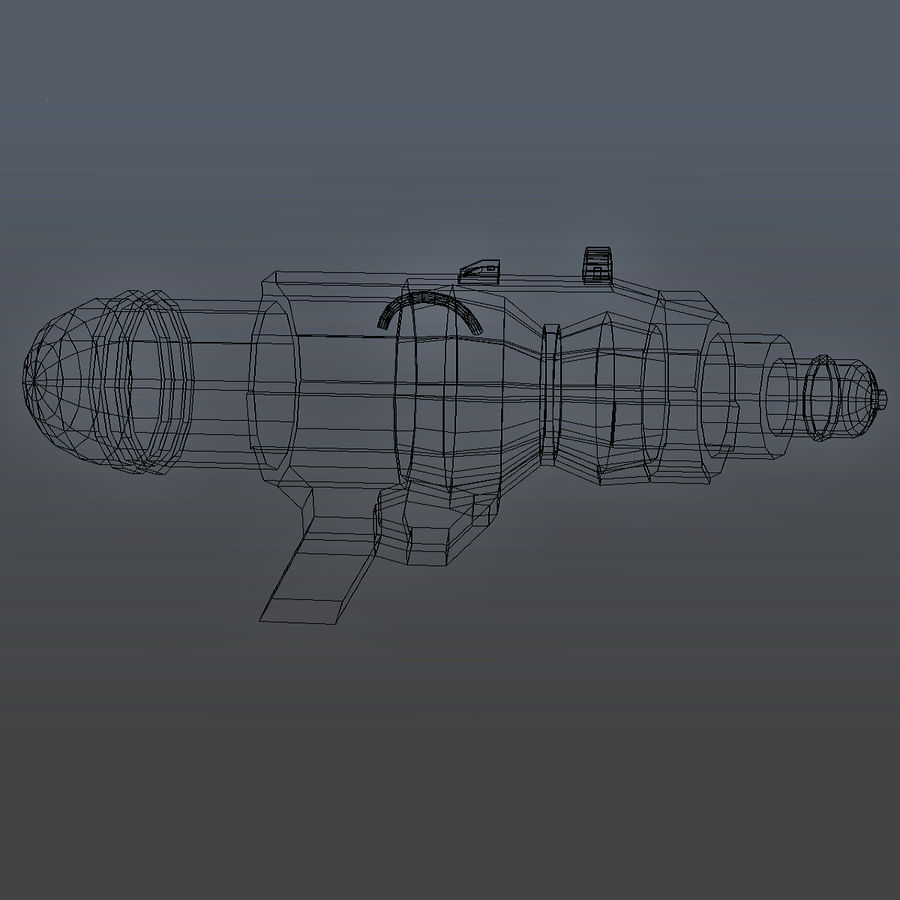 Waterpistool royalty-free 3d model - Preview no. 5