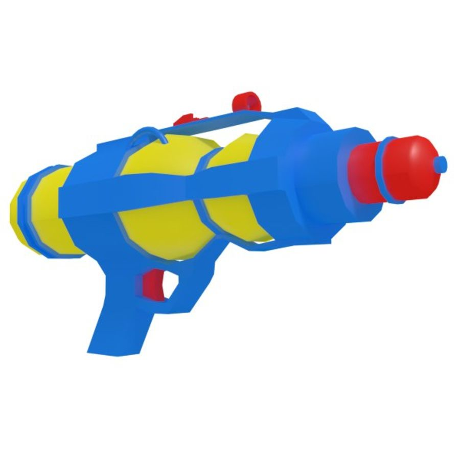 Waterpistool royalty-free 3d model - Preview no. 3