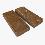 Realistic Chocolate Wafer Bar 3d model