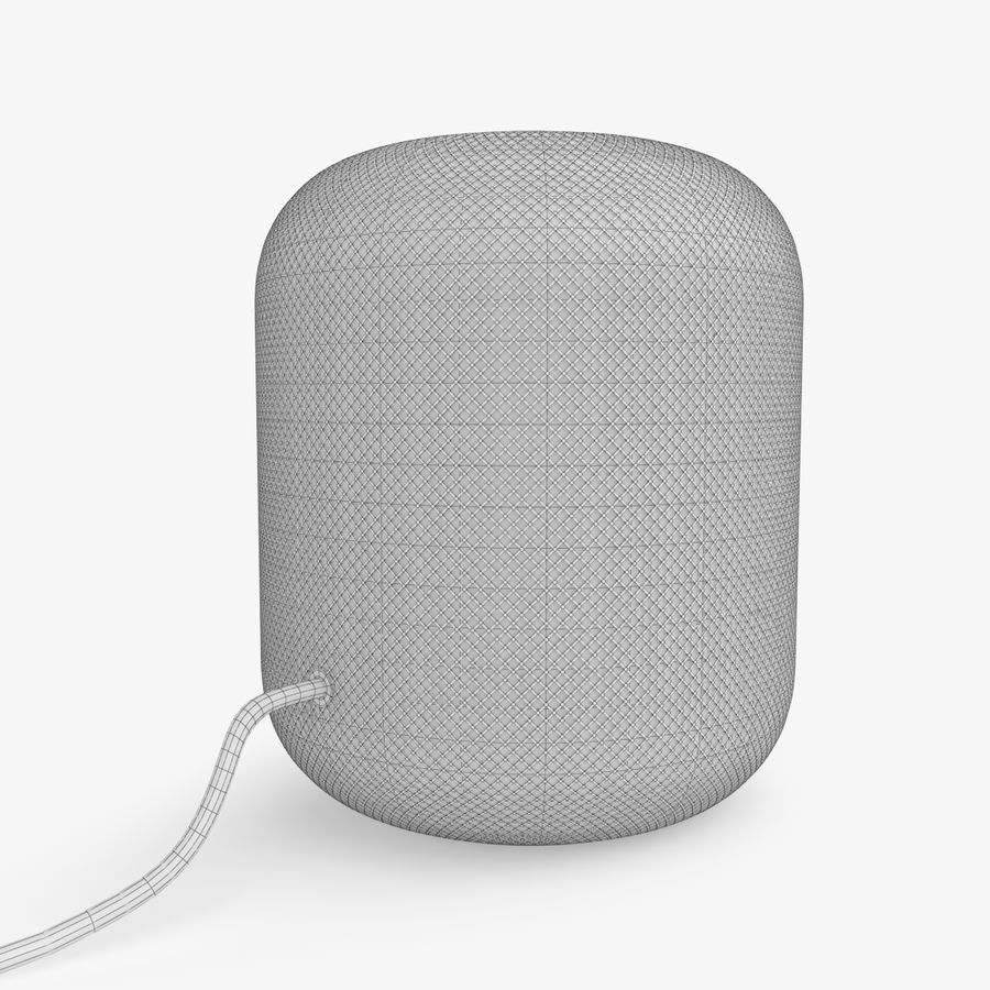 Apple HomePod royalty-free 3d model - Preview no. 7