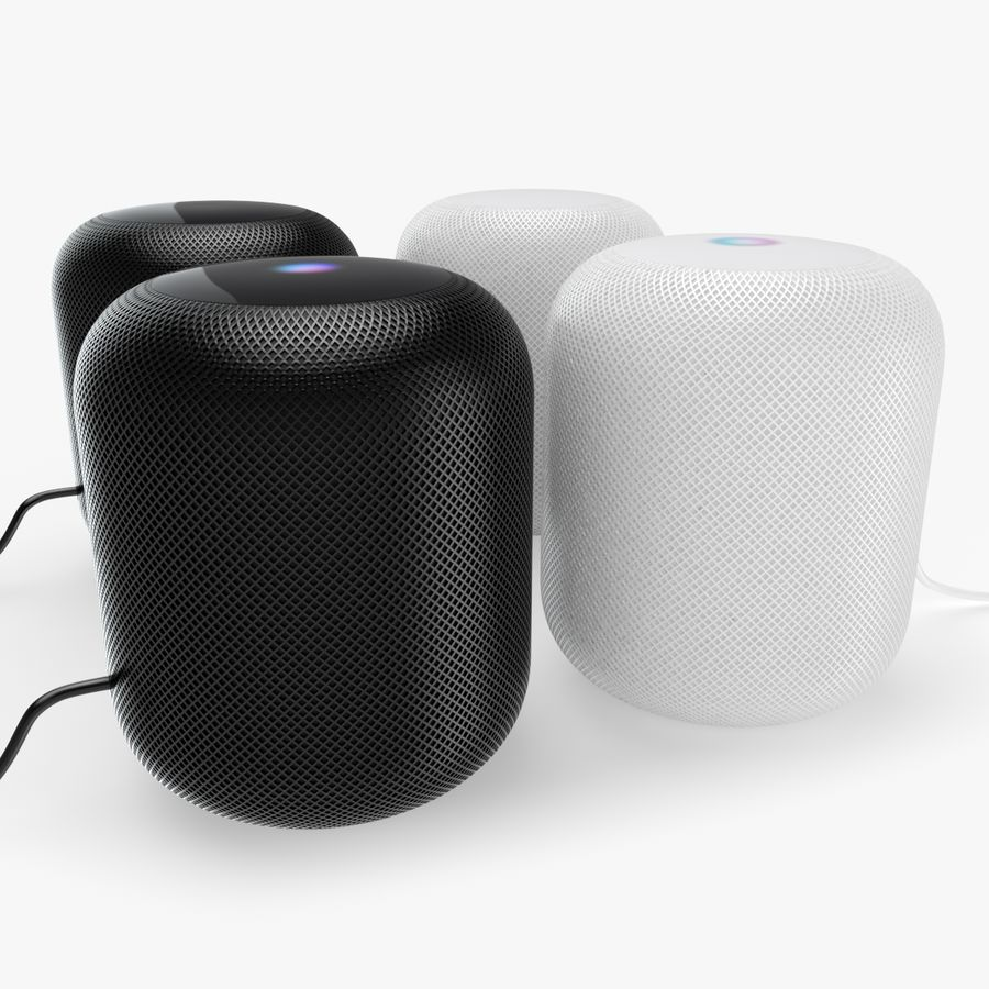 Apple HomePod royalty-free 3d model - Preview no. 1