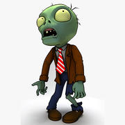 Zombiler bitkiler vs zombiler 3d model