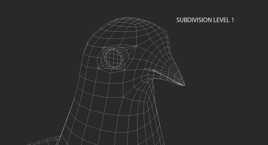 Pigeon royalty-free 3d model - Preview no. 19