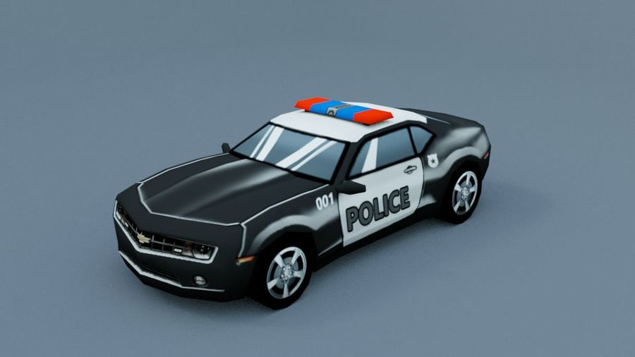 Low Poly Car royalty-free 3d model - Preview no. 9