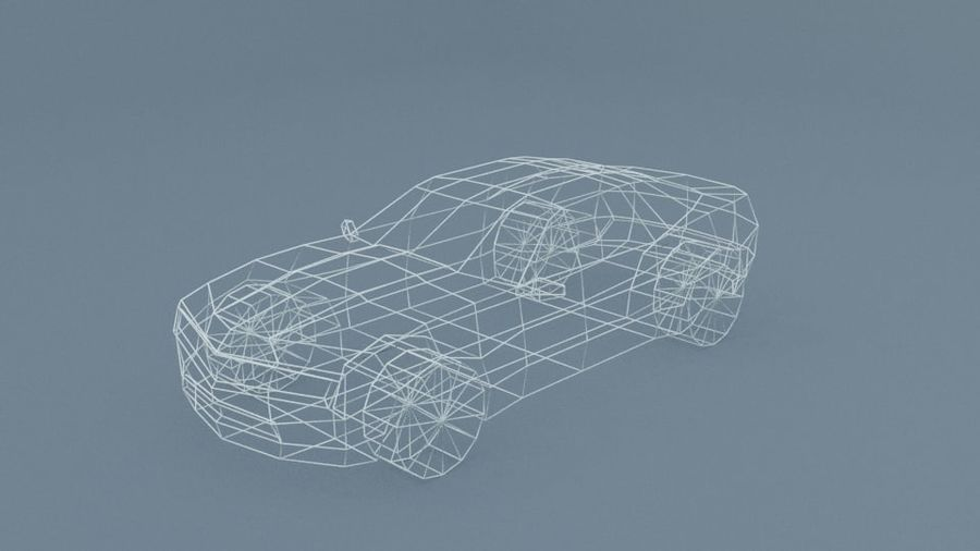 Low Poly Car royalty-free 3d model - Preview no. 11