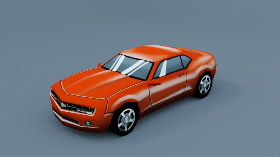 Low Poly Car royalty-free 3d model - Preview no. 6