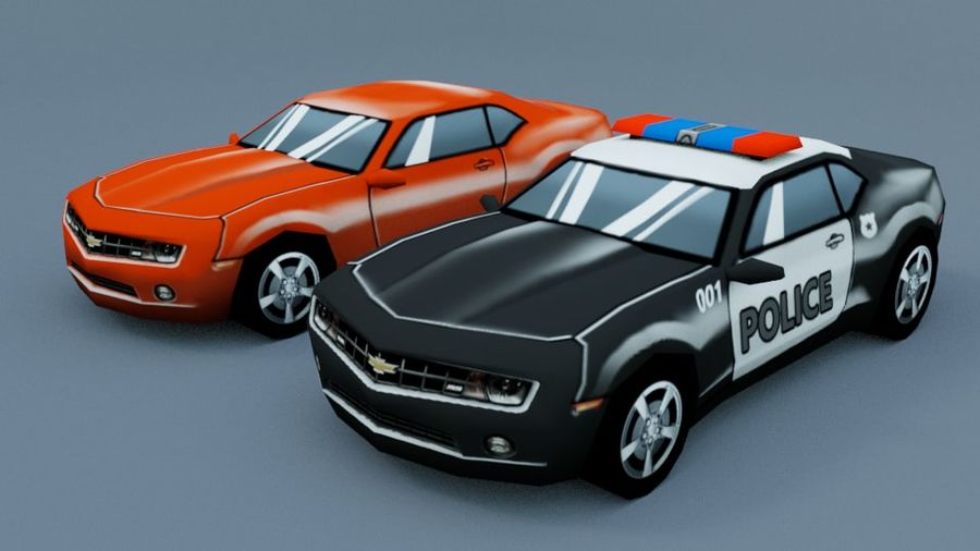 Low Poly Car royalty-free 3d model - Preview no. 2